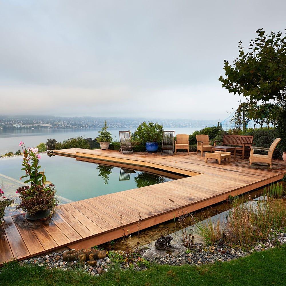 Garten mit Holz von Truttmann Holzprofis Emmenten AG